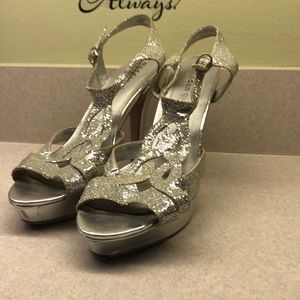Madden Girl Silver High Heel shoes